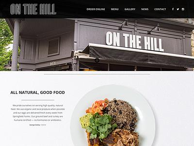 On The Hill Cafe Website design web website