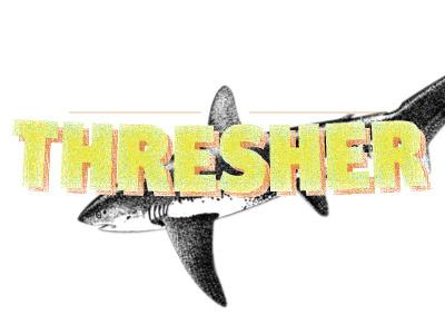 Thresher typography logo design