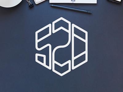 520 Logo arizona tucson hexagon logo hexagonal hexagon monoline area code logo designer logodesigner logodesign logo design logo