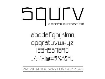 squrv - a moder lowercase typeface font designer font design font typeface
