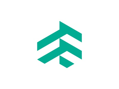 flightfeed app logo design concept app logo design flight logo lettermarklogo lettermark logo lettermark hexagon logo hexagonal logo design logodesign logos logo