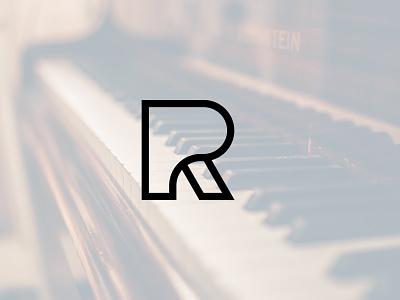 Piano R Logo branding logo design logo