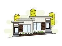 Type Three Homes Duplex Flat Vector
