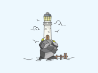 Lighthouse Rock Island