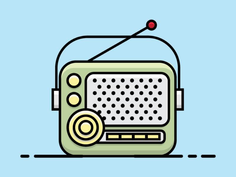 Retro Radio Vector vector retro radio