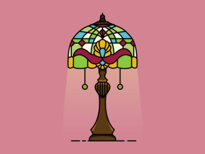 Tiffany Lamp process youtube instagram inspiration vector art vector lamp shade stained glass tiffany lamp