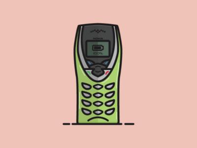 Nokia 8260 green vintage cell phone retro tech old tech nokia cell phone phone vectorart vector