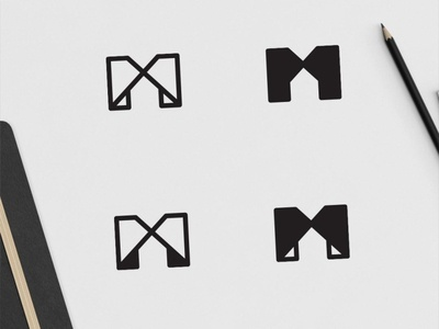 M Logo Exporation monoline logo house logo m logo logo designs logo design logodesign logomarks logomark logos logo