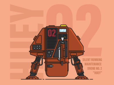 Huey Maintenance Droid scifi science fiction seventies movie silent running robot droid