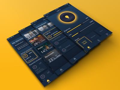 Smart Home Concept home kit smart home sketch mobile ui design control app iphone smart home concept