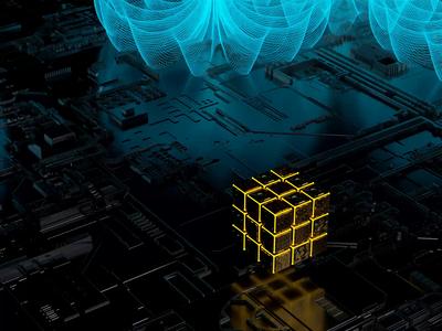 Cubes Animation corona render corona render data sci-fi abstract glitch cubes cinema 4d cinema illustration