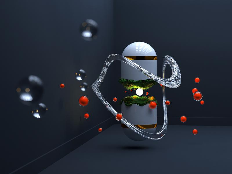 Magic Сapsule balls magic capsule c4d art abstract illustration corona corona render 3d render cinema 4d