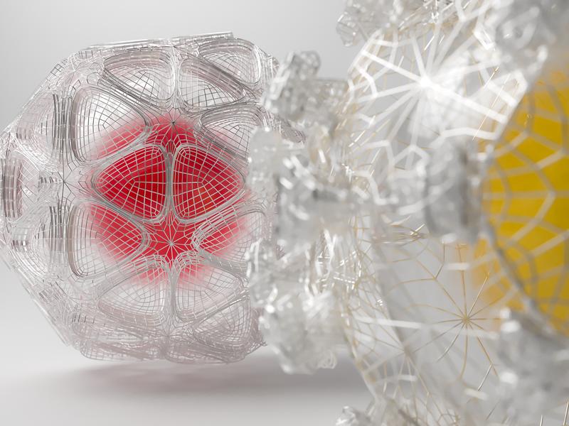 Snow Plexus design balls snow c4d art corona abstract illustration corona render 3d render cinema 4d