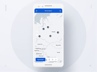 Transportation Tracking System principle menu card list mobile animation animation figma ux ui transport mobile clean tracking