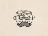 Look my mustache.