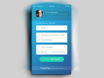 Peypey App ui gradients branding iphone app app