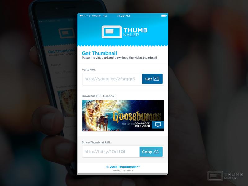 Thumbnailer App thumbnails mobile design branding app