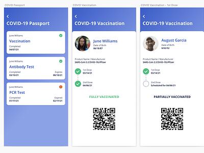 COVID-19 Passport uidesign uxchallenge design challenge concept 1stshot vaccination vaccine passport wallet wallet ui uxdesign ux  ui ux covid 19 covid-19 covid19 covid