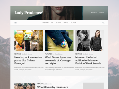 Lady Prudence blog and hot topics