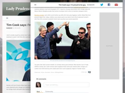 Single post single news post fashion stories homepage blog responsive ui website