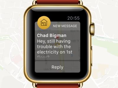 Llaveo Apple Watch messages app startup companion owner message notification watch apple ui