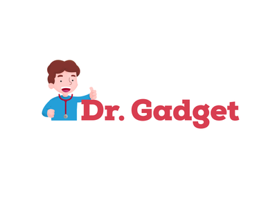Dr. Gadget geek brand gadget dr millennial illustration illo logo