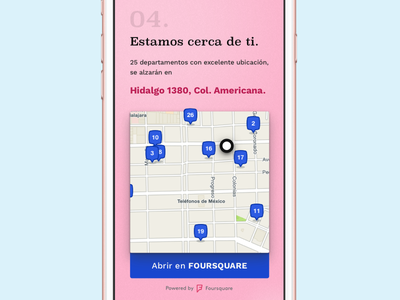 Sneak Peak principle mobile foursquare landing clean responsive ui web