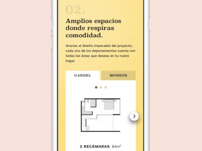 Spaces slider web ui responsive clean landing mobile principle