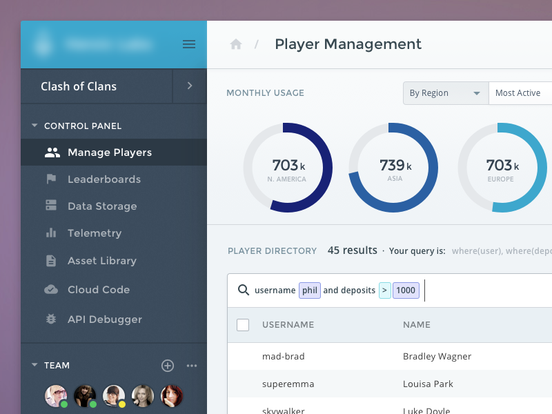Player Dashboard UI, Color Exploration responsive ux ui graph web data dashboard startup saas app analytics admin