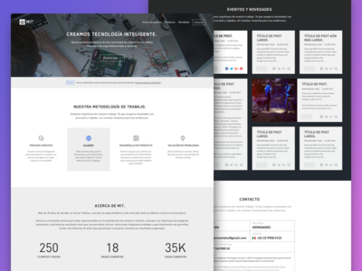 MIT Homepage flat responsive landing product website user icons web tech experience