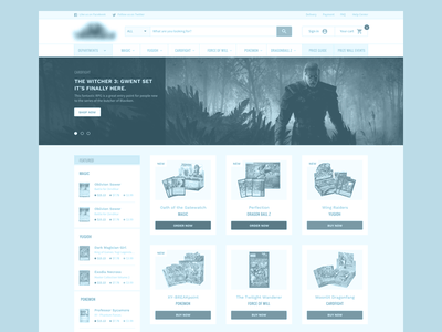 Trading Cards Game: initial wireframes ecommerce web user interface redesign analytics wireframes ux exploration sitemap ia