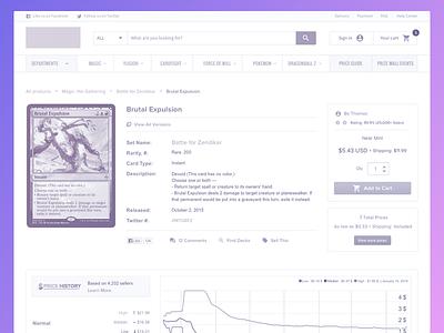 Product Detail ecommerce web product analytics wireframes ux exploration