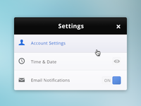 Settings 2º Theme