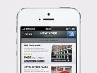White Travel Reservation iOS App