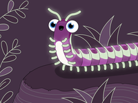 Glowing Millipede