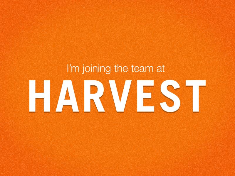 Harvest harvest job web app designer