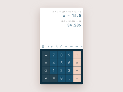 Calculator ui dailyui calculator app