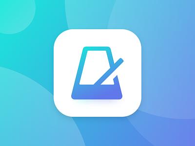 App Icon ui dailyui simple logo music tempo metronome application icon iphone app icon ios app