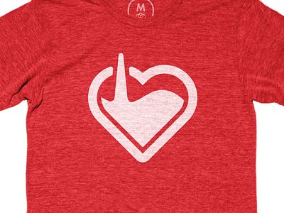 Love Tank illustration tee shirt cotton bureau fill heart love