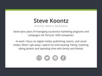 Steve Koontz Biz Card Website