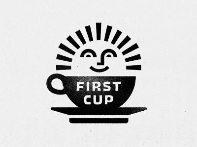 First Cup dove will dove caffeine beverage food and drink washington dc illustration coffee cup cafe logo morning sunrise sun cafe coffee