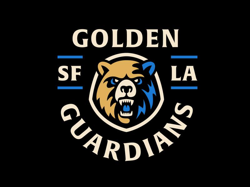 Golden Bear warriors golden state warriors gaming athletics sports logo sports esports nature animal bear logo bear guardians sf golden state