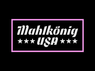 Mahlkonig USA Shirt Design washington dc type typography stars lettering logotype usa north carolina durham germany cafe coffee shop coffee mahlkonig
