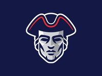 Patriots Logo typography type football patriot tricorn charlotte north carolina logo branding sports branding athletics sports logo sports patriots