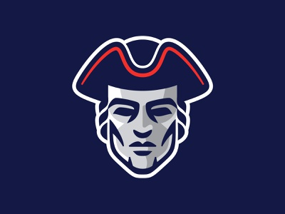 Patriots Logo typography type football patriot tricorn charlotte north carolina logo branding sports branding athletics sports logo sports patriots