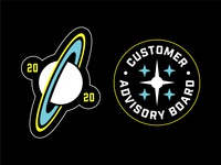 Stardog Stickers 2020 nasa planet saturn stars badges patch space sticker stickers stardog dog star