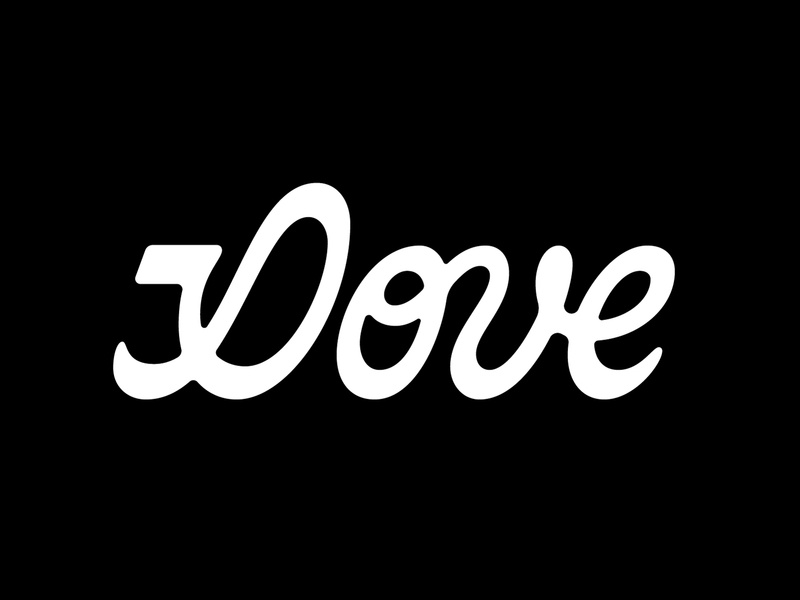 Dove Logotype wordmark calligraphy type smooth washington dc north carolina dove logotype script lettering script lettering logo dribbble typography lettering