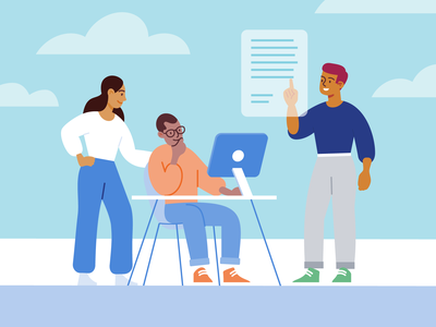 Remind Resources teamwork team resources improve education school technology vectorart app tech people illustration remind