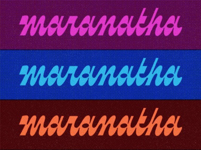 Maranatha Texture retro funky reverse contrast reverse-contrast script logotype art gallery design lettering branding logo type typography