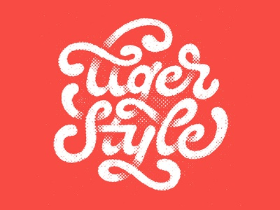 Tiger Style swash script typography halftone texture tiger wutang